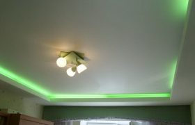 Сатиновый натяжной потолок в Екатеринбурге