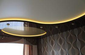 Натяжной потолкок с подсветкой