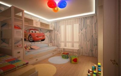 Натяжной потолок с подсветкой в детскую