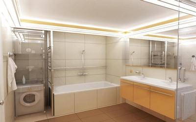 Натяжной потолок с подсветкой в ванную